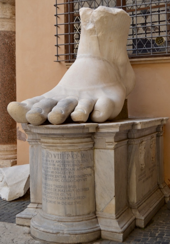 This giant foot makes me wonder where the rest of this guy ended up