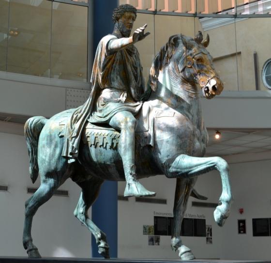The Equestrian Statue of Marcus Aurelius, Capitoline Hill Museum