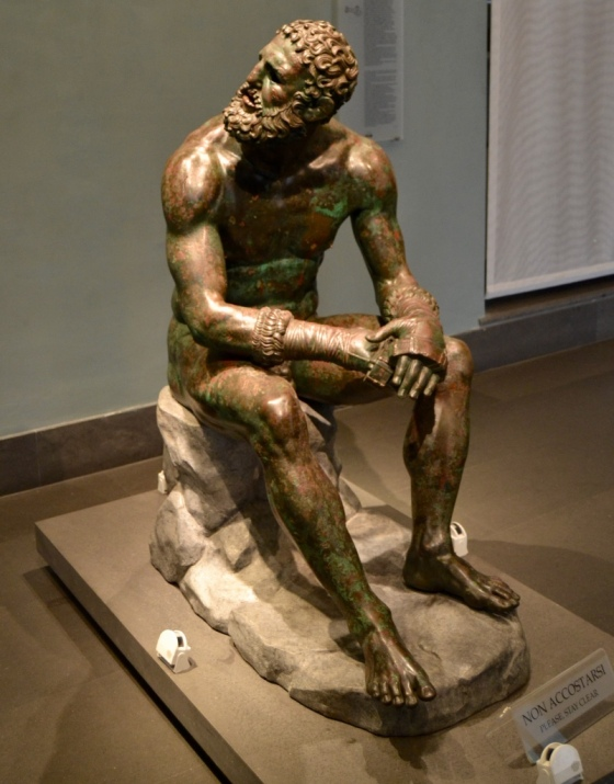 The Boxer at Rest, Greek Sculpture, National Museum of Rome