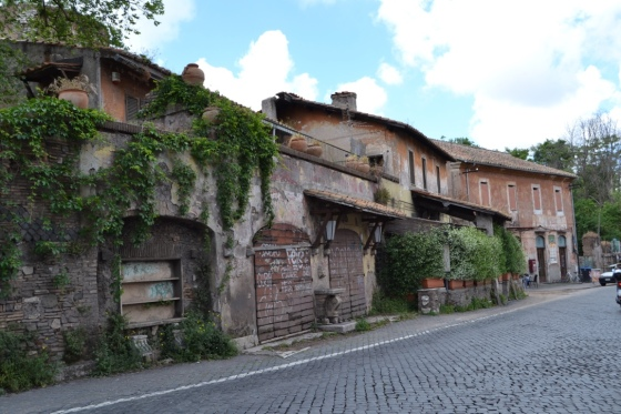 Village homes along the Appian Way