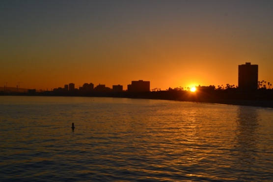 Sunset over Long Beach